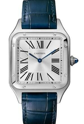 The blue hands are iconic features of Cartier.