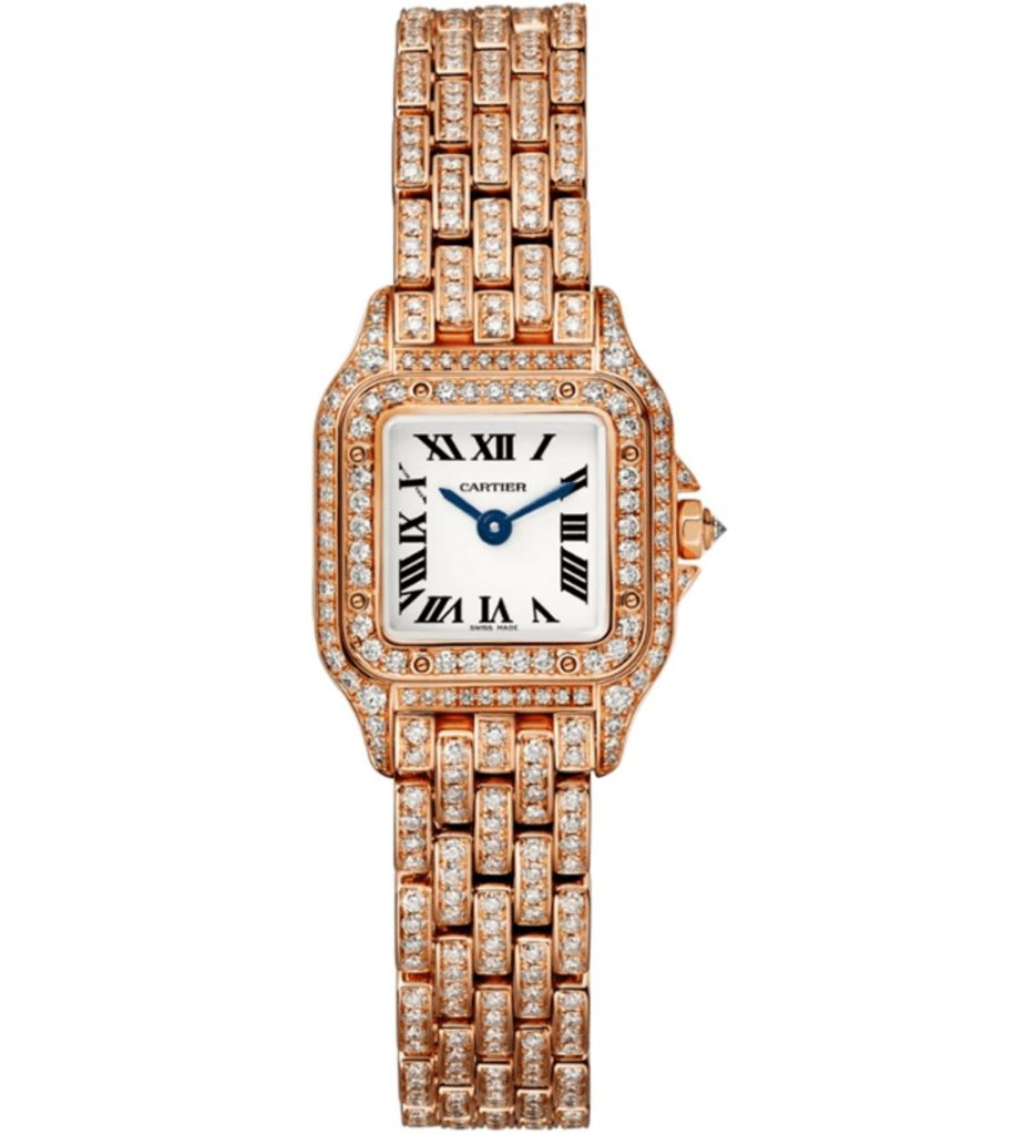 The quartz movement fake watch is designed for women.